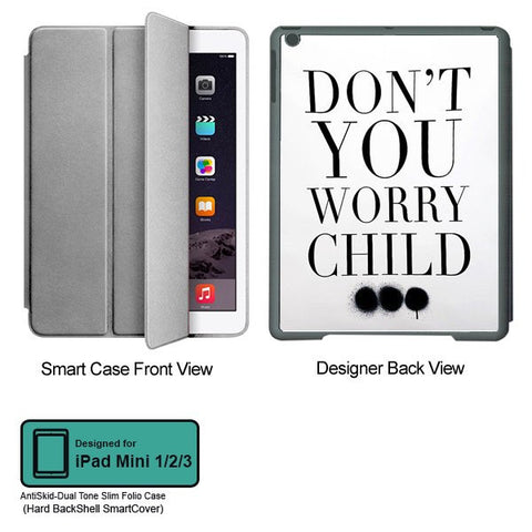 Universal Music Officially Licensed Swedish House Mafia -Don't You Worry Child #3 Tablet Designer GRAY SMART CASE for APPLE IPAD MINI 1, APPLE IPAD MINI 2, APPLE IPAD MINI 3