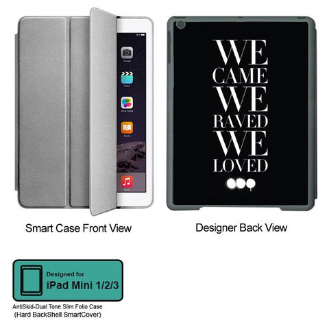Universal Music Officially Licensed Swedish House Mafia -We Came We Raved #2 Tablet Designer GRAY SMART CASE for APPLE IPAD MINI 1, APPLE IPAD MINI 2, APPLE IPAD MINI 3