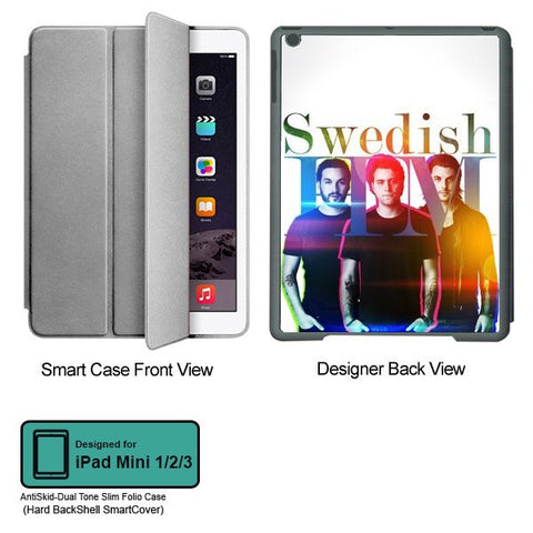 Universal Music Officially Licensed Swedish House Mafia -Group Band Tablet Designer GRAY SMART CASE for APPLE IPAD MINI 1, APPLE IPAD MINI 2, APPLE IPAD MINI 3