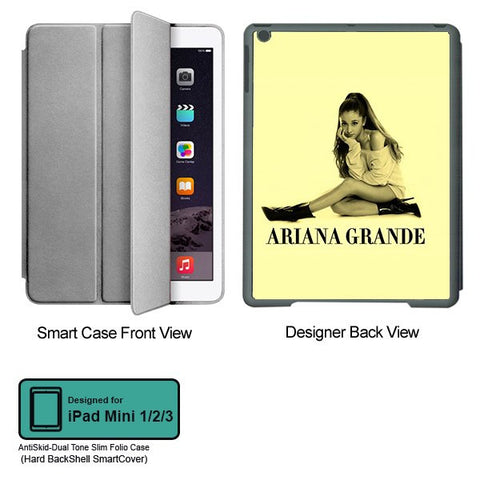 Universal Music Officially Licensed Ariana Grande -Style 1 Tablet Designer GRAY SMART CASE for APPLE IPAD MINI 1, APPLE IPAD MINI 2, APPLE IPAD MINI 3