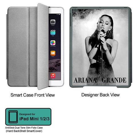 Universal Music Officially Licensed Ariana Grande -Style 2 Tablet Designer GRAY SMART CASE for APPLE IPAD MINI 1, APPLE IPAD MINI 2, APPLE IPAD MINI 3