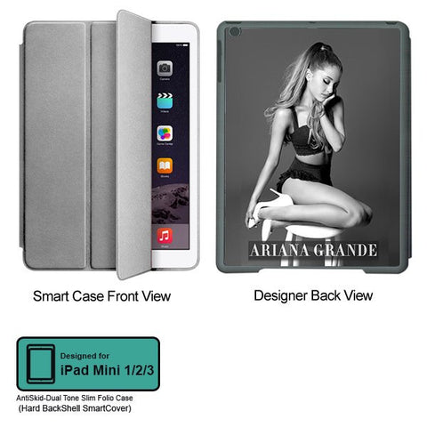Universal Music Officially Licensed Ariana Grande -Style 3 Tablet Designer GRAY SMART CASE for APPLE IPAD MINI 1, APPLE IPAD MINI 2, APPLE IPAD MINI 3