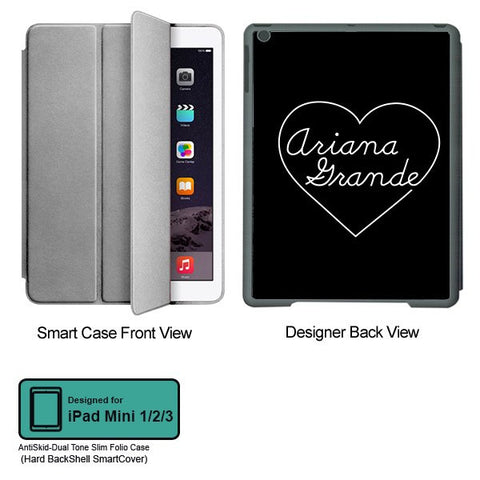 Universal Music Officially Licensed Ariana Grande -Heart Tablet Designer GRAY SMART CASE for APPLE IPAD MINI 1, APPLE IPAD MINI 2, APPLE IPAD MINI 3