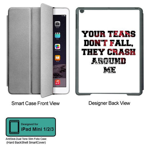 Universal Music Officially Licensed Bullet for my Valentine -Tears Tablet Designer GRAY SMART CASE for APPLE IPAD MINI 1, APPLE IPAD MINI 2, APPLE IPAD MINI 3