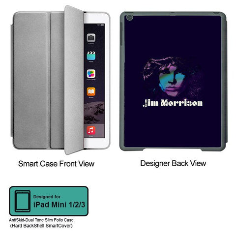 Universal Music Officially Licensed Jim Morrison -Style 1 Tablet Designer GRAY SMART CASE for APPLE IPAD MINI 1, APPLE IPAD MINI 2, APPLE IPAD MINI 3