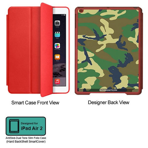 Camouflage - Green For APPLE IPAD AIR2 RED SMART CASE