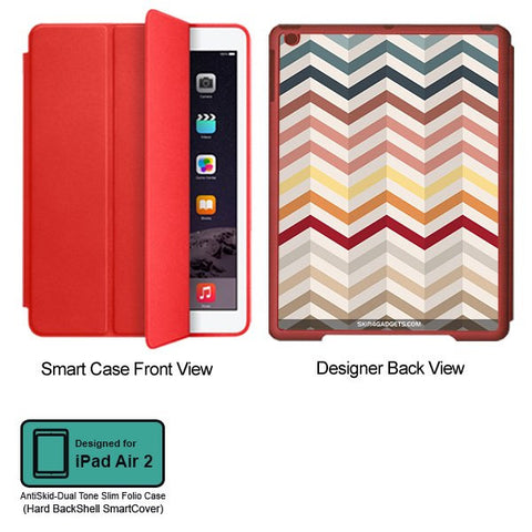 Chevron Pattern For APPLE IPAD AIR2 RED SMART CASE