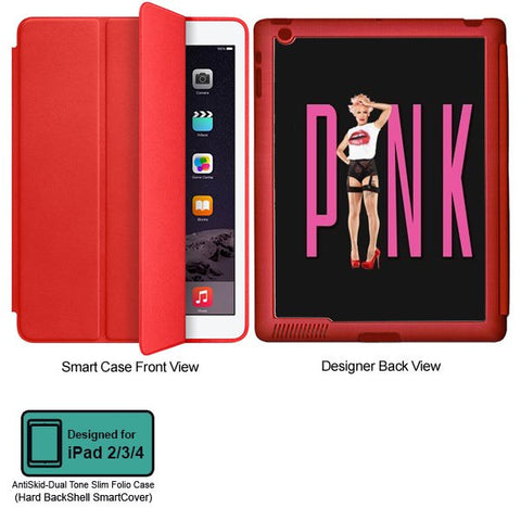 Universal Music Officially Licensed Pink -Style 1 Tablet Designer RED SMART CASE for APPLE IPAD 2,IPAD 3,IPAD 4