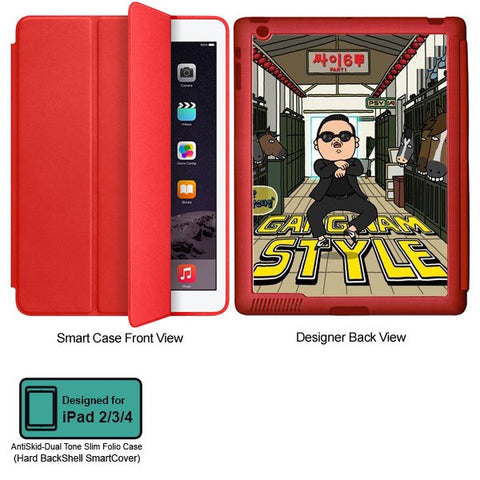 Universal Music Officially Licensed PSY - Gangnam Style - Tablet Designer RED SMART CASE for APPLE IPAD 2,IPAD 3,IPAD 4