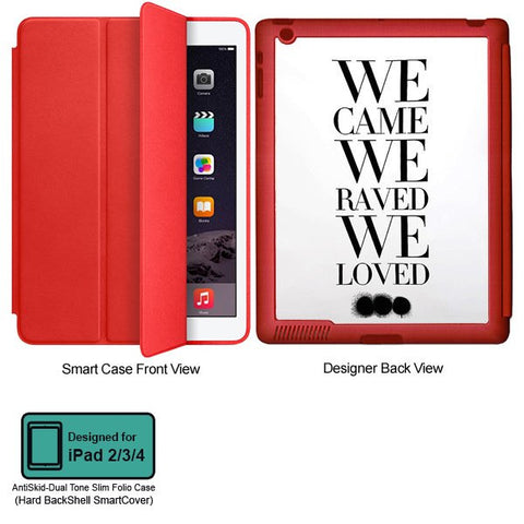 Universal Music Officially Licensed Swedish House Mafia -We Came We Raved Tablet Designer RED SMART CASE for APPLE IPAD 2,IPAD 3,IPAD 4