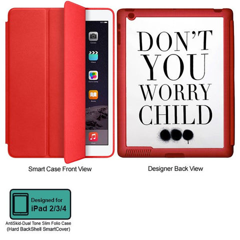 Universal Music Officially Licensed Swedish House Mafia -Don't You Worry Child #3 Tablet Designer RED SMART CASE for APPLE IPAD 2,IPAD 3,IPAD 4