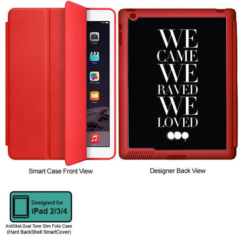 Universal Music Officially Licensed Swedish House Mafia -We Came We Raved #2 Tablet Designer RED SMART CASE for APPLE IPAD 2,IPAD 3,IPAD 4