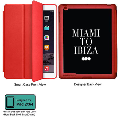 Universal Music Officially Licensed Swedish House Mafia -Miami to Ibiza Tablet Designer RED SMART CASE for APPLE IPAD 2,IPAD 3,IPAD 4