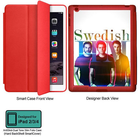 Universal Music Officially Licensed Swedish House Mafia -Group Band Tablet Designer RED SMART CASE for APPLE IPAD 2,IPAD 3,IPAD 4