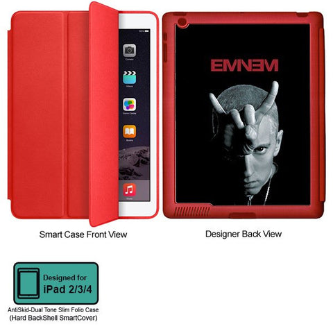 Universal Music Officially Licensed Eminem Horn - Tablet Designer RED SMART CASE for APPLE IPAD 2,IPAD 3,IPAD 4