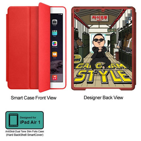 Universal Music Officially Licensed PSY - Gangnam Style - Tablet Designer RED SMART CASE for APPLE IPAD AIR1
