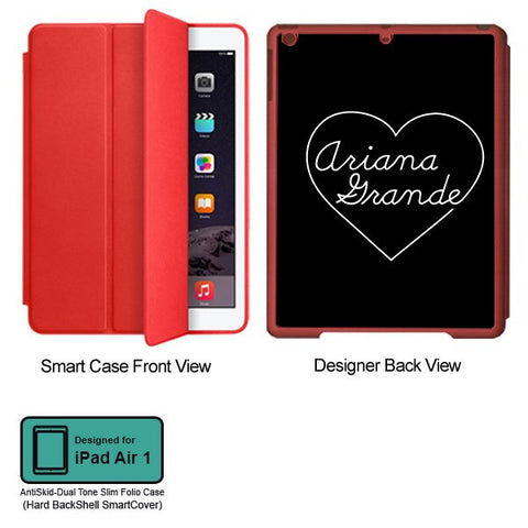 Universal Music Officially Licensed Ariana Grande -Heart Tablet Designer RED SMART CASE for APPLE IPAD AIR1