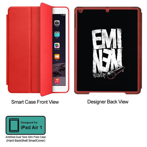 Universal Music Officially Licensed Eminem Recovery - Tablet Designer RED SMART CASE for APPLE IPAD AIR1