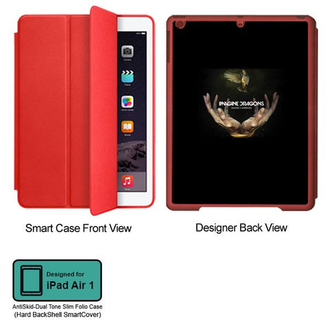 Universal Music Officially Licensed Imagine Dragons- Tablet Designer RED SMART CASE for APPLE IPAD AIR1