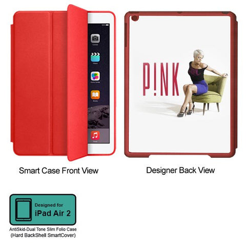 Universal Music Officially Licensed Pink -Style 2 Tablet Designer RED SMART CASE for APPLE IPAD AIR2