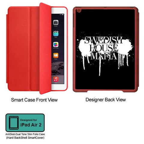 Universal Music Officially Licensed Swedish House Mafia -Logo #1 Tablet Designer RED SMART CASE for APPLE IPAD AIR2