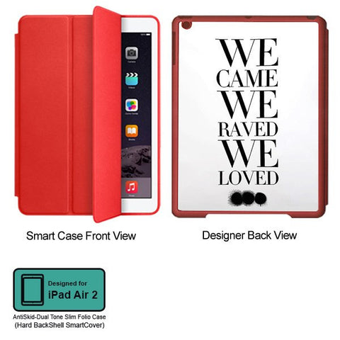 Universal Music Officially Licensed Swedish House Mafia -We Came We Raved Tablet Designer RED SMART CASE for APPLE IPAD AIR2