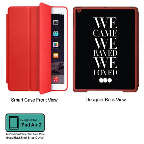 Universal Music Officially Licensed Swedish House Mafia -We Came We Raved #2 Tablet Designer RED SMART CASE for APPLE IPAD AIR2
