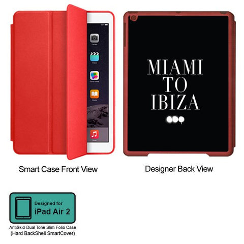 Universal Music Officially Licensed Swedish House Mafia -Miami to Ibiza Tablet Designer RED SMART CASE for APPLE IPAD AIR2