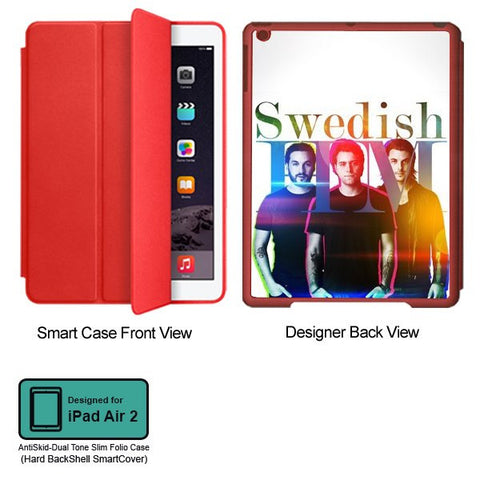 Universal Music Officially Licensed Swedish House Mafia -Group Band Tablet Designer RED SMART CASE for APPLE IPAD AIR2