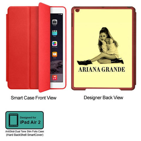 Universal Music Officially Licensed Ariana Grande -Style 1 Tablet Designer RED SMART CASE for APPLE IPAD AIR2
