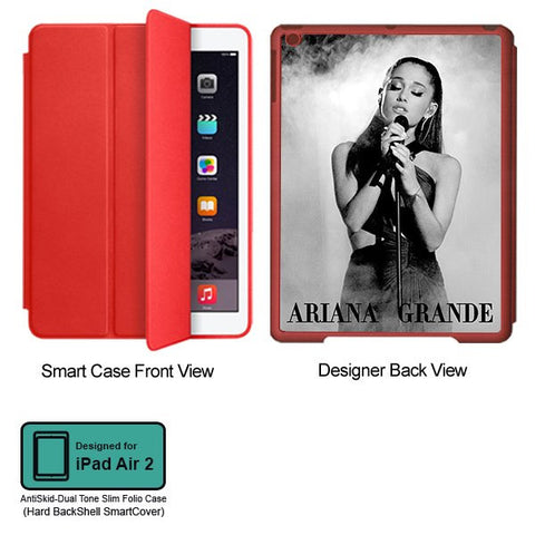 Universal Music Officially Licensed Ariana Grande -Style 2 Tablet Designer RED SMART CASE for APPLE IPAD AIR2