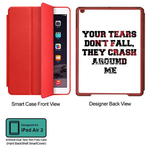 Universal Music Officially Licensed Bullet for my Valentine -Tears Tablet Designer RED SMART CASE for APPLE IPAD AIR2
