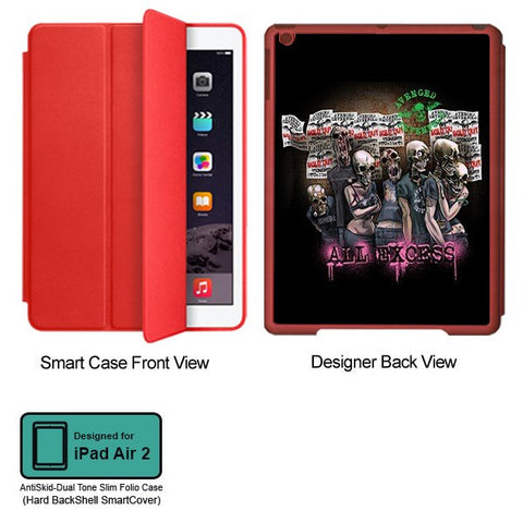 Universal Music Officially Licensed Avenged Sevenfold -All Excess Tablet Designer RED SMART CASE for APPLE IPAD AIR2