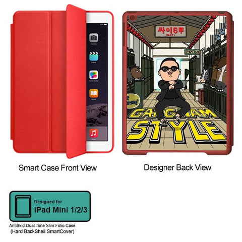 Universal Music Officially Licensed PSY - Gangnam Style - Tablet Designer RED SMART CASE for APPLE IPAD MINI 1, APPLE IPAD MINI 2, APPLE IPAD MINI 3