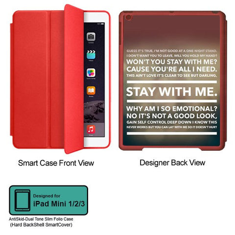 Universal Music Officially Licensed Sam Smith -Style 4 Tablet Designer RED SMART CASE for APPLE IPAD MINI 1, APPLE IPAD MINI 2, APPLE IPAD MINI 3