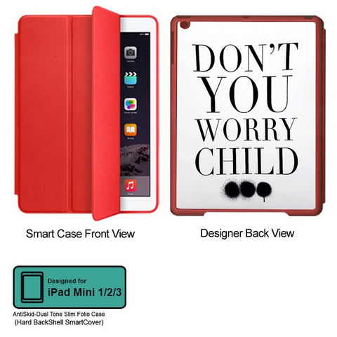 Universal Music Officially Licensed Swedish House Mafia -Don't You Worry Child #3 Tablet Designer RED SMART CASE for APPLE IPAD MINI 1, APPLE IPAD MINI 2, APPLE IPAD MINI 3