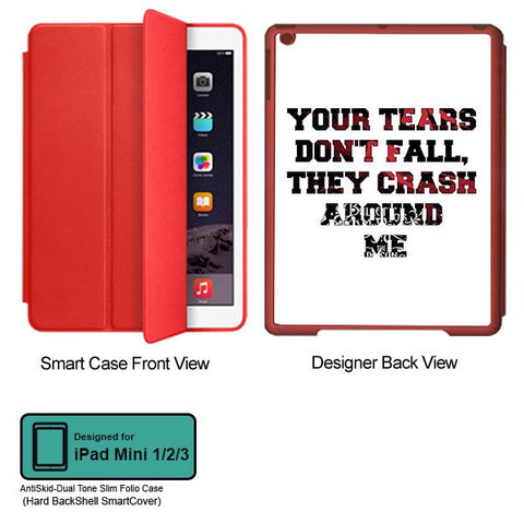 Universal Music Officially Licensed Bullet for my Valentine -Tears Tablet Designer RED SMART CASE for APPLE IPAD MINI 1, APPLE IPAD MINI 2, APPLE IPAD MINI 3