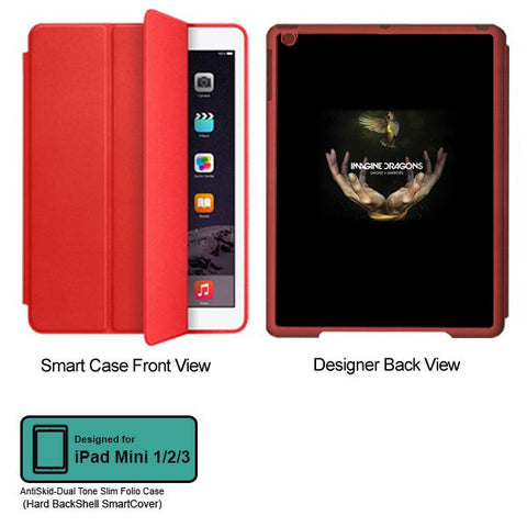Universal Music Officially Licensed Imagine Dragons- Tablet Designer RED SMART CASE for APPLE IPAD MINI 1, APPLE IPAD MINI 2, APPLE IPAD MINI 3