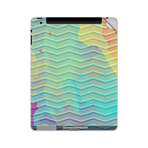 Colourful Waves For APPLE IPAD 2 Skin