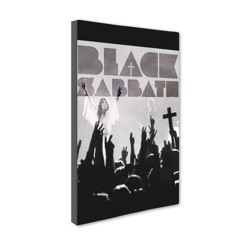 Universal Music Officially Licensed BLACK SABBATH Canvas Stretched on 1 Wooden Frame: Style#1 - skin4gadgets