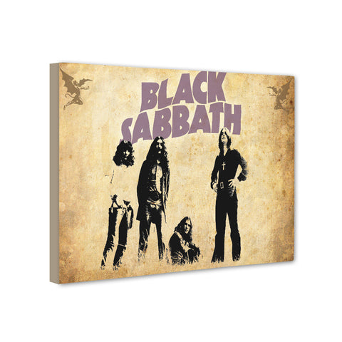 Universal Music Officially Licensed BLACK SABBATH Canvas Stretched on 1 Wooden Frame: Style#3 - skin4gadgets