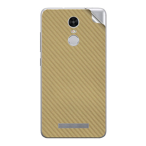 Golden Carbon Fiber Texture For Xiaomi Redmi Note 3 Skin/Sticker