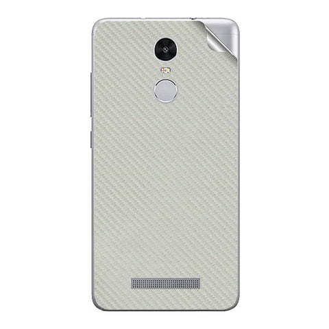 Silver Carbon Fiber Texture For Xiaomi Redmi Note 3 Skin/Sticker