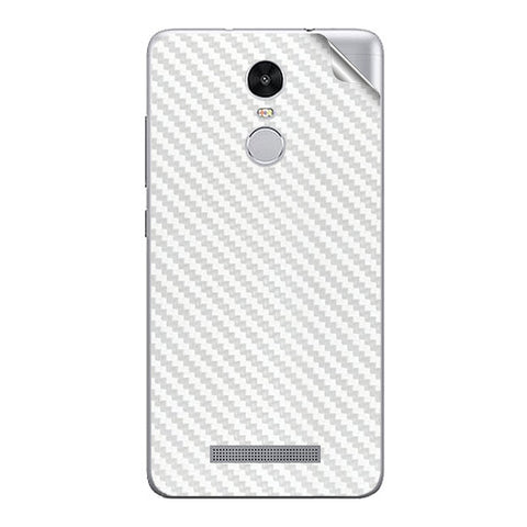 White Carbon Fiber Texture For Xiaomi Redmi Note 3 Skin/Sticker