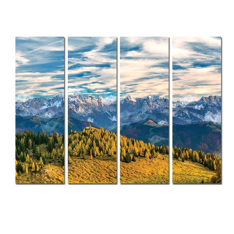 Valley Landscape - Canvas Print Non Framed