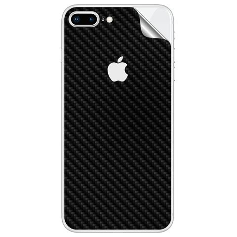 APPLE IPHONE 8 PLUS BLACK CARBON FIBER SKIN - skin4gadgets