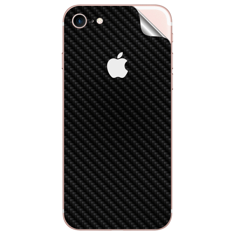 APPLE IPHONE 8 Black Carbon Fiber Skin Sticker - skin4gadgets