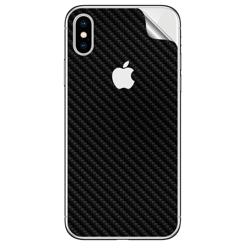 BLACK CARBON FIBER SKIN FOR APPLE IPHONE XS MAX