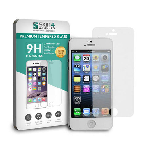 Apple iphone 5s Tempered glass screen protector by Skin4Gadgets Pack of 2 - skin4gadgets