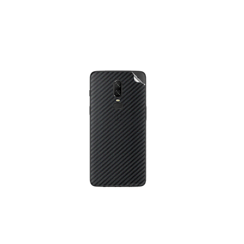 OnePlus 6 Black Carbon Fiber Skin Sticker
